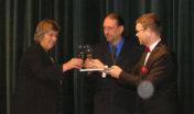 S místostarostkou Věrou Mirvaldovou a starostou Janem Kernerem, otvírání Vrchlického divadla (2003)