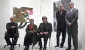 První vernisáž v Galerii města Loun: Zdeněk Sýkora, Věra Linhartová, Věra Mirvaldová, V.D., Jan Sekera (2010)