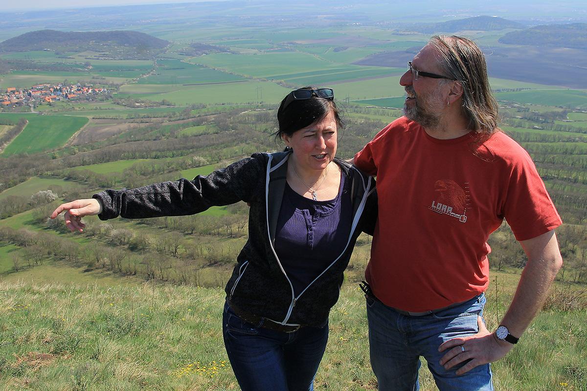 S manželkou v Českém středohoří (2018)