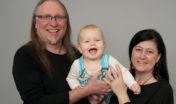 S vnukem Ondřejem a manželkou Věrou