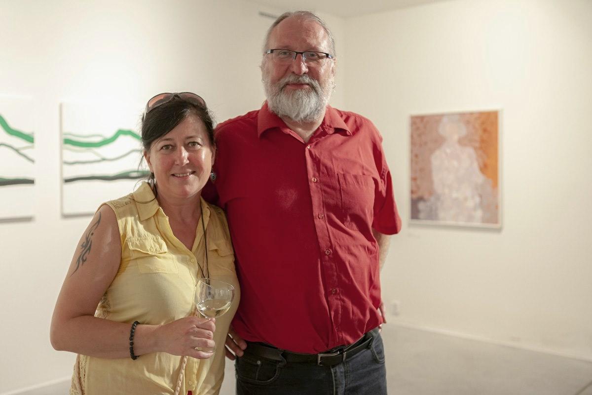 S manželkou Věrou v Galerii Města Loun (2019)