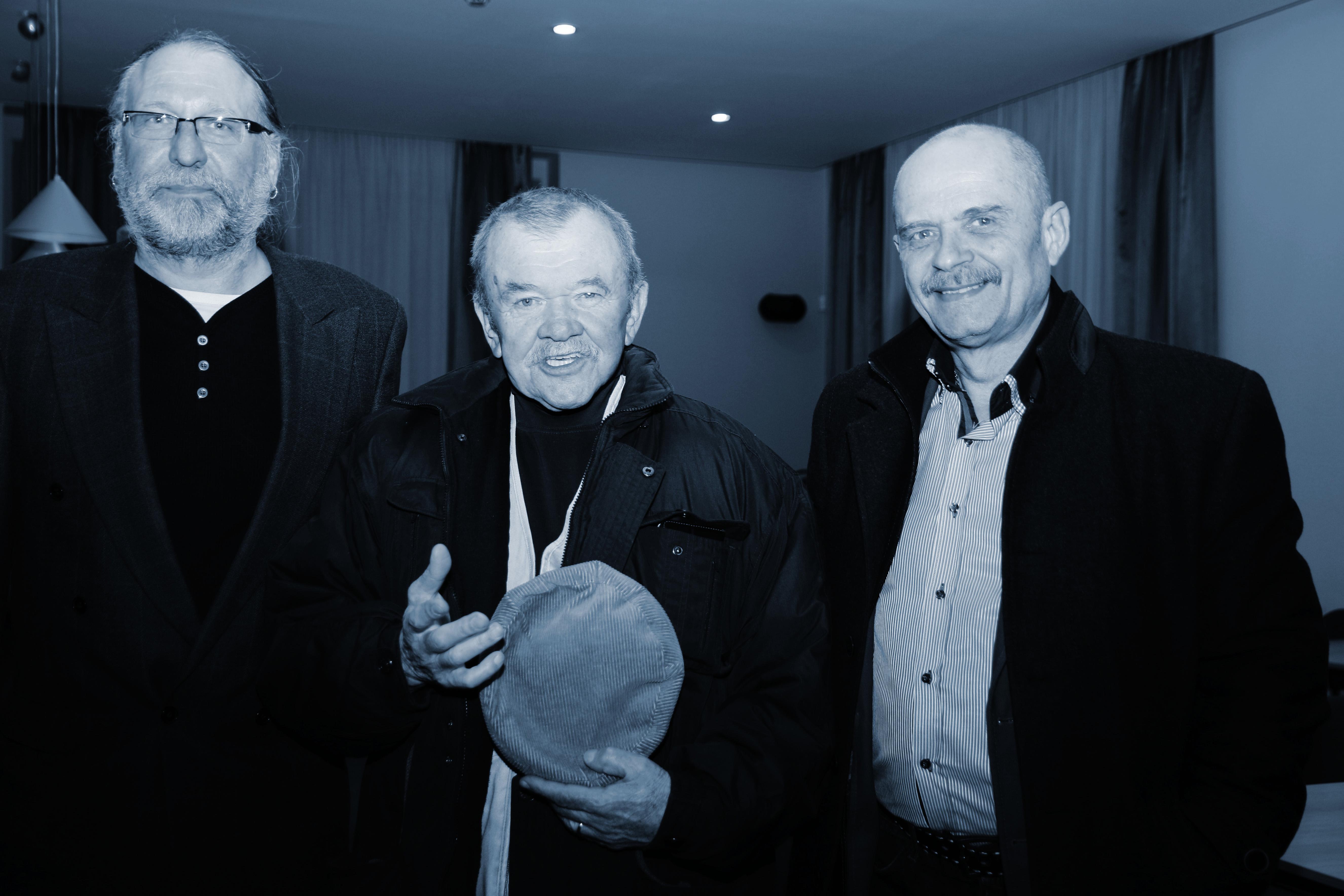 S lounskými starosty Emilem Vollkmannem (1990 – 2002) a Radovanem Šabatou (2014 – 2019)