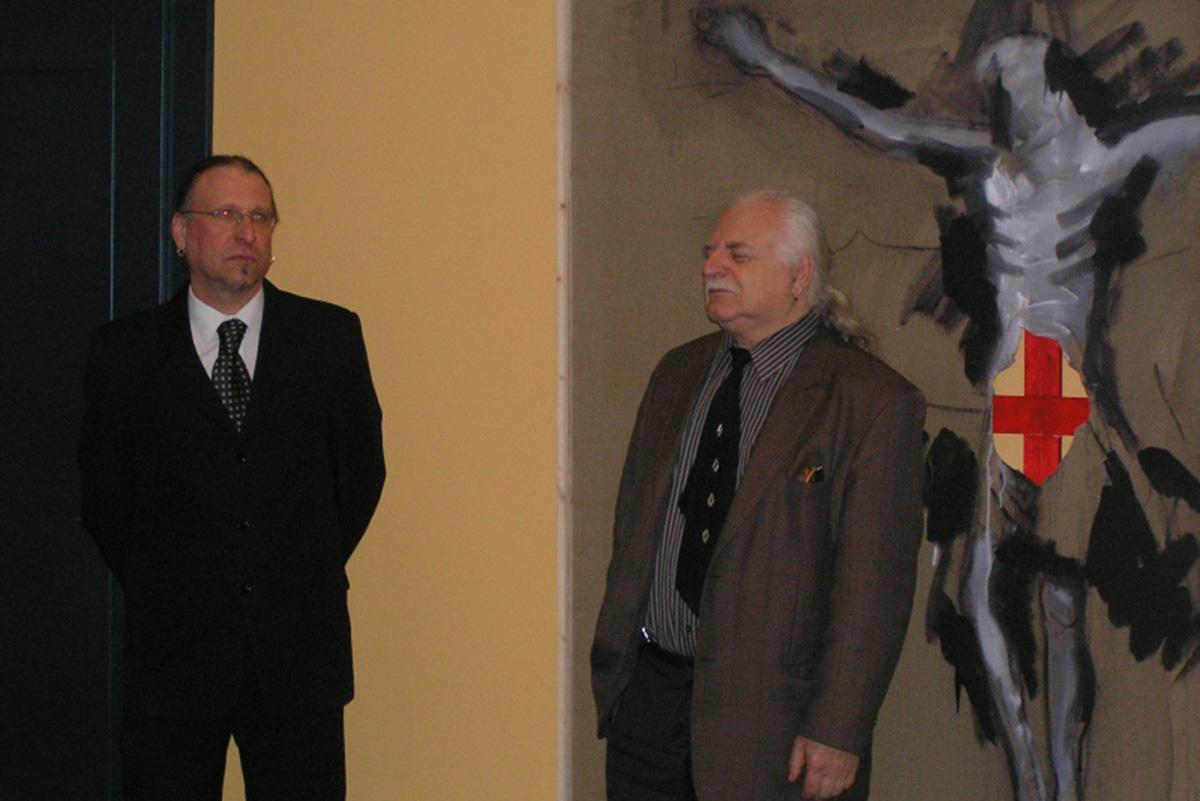 S Milanem Knížákem, vernisáž jeho výstavy