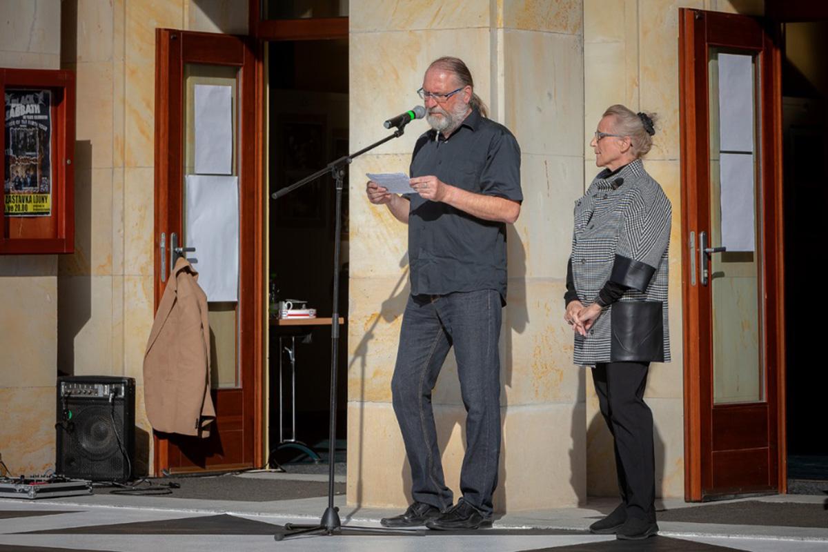 S Lenkou Sýkrovou, slavnostní otvírání Sýkorovy piazzetty