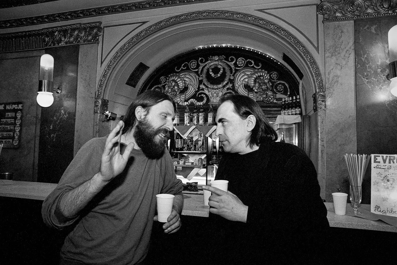 S hudebním géniem Mejlou Hlavsou v Lucerně, 1993